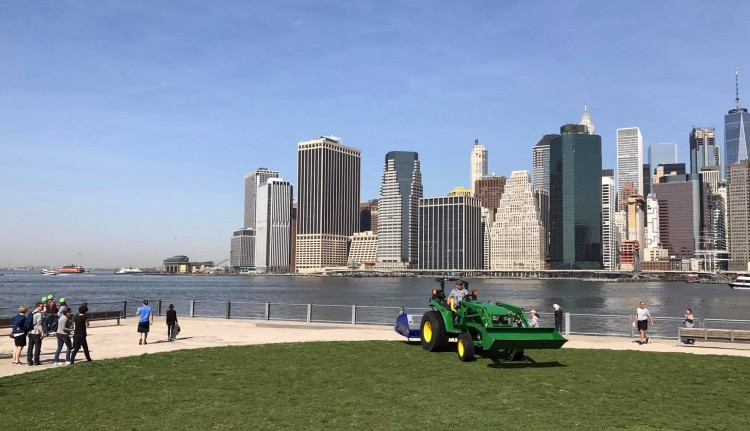 Shockwave, Imants, New York, NYC, Shockwave 210, Fulton Ferry Park, Imants greenline,